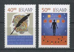 ISLANDE 2000 N° 886/887 ** Neufs = MNH  Superbes Cote 4.25 € Symboles Millénaire Plume Entrelacs Hommes - Unused Stamps