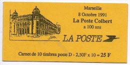 Timbres - Carnet Mariane De Briat - Faciale 24.00 Fr (lettre D) - N° 2712 - Usados Corriente