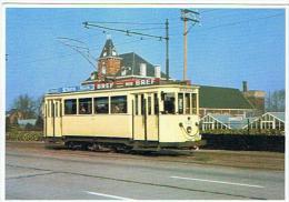 TRAMWAYS D EUROPE MIVG RIJTUIG 322 TE MELLE OP DE LIJN GEN MELLE 1973 - Tramways