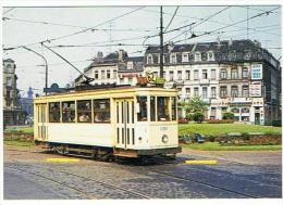 9   STE DES TRANSPORTS INTERCOMMUNAUX DE BRUXELLES JUILLET 1971 MOTRICE 1380 PLACE BARA - Tramways