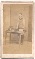 Fabricant De Chapeaux - Photo CDV Tournier - Photo En L'état - Alte (vor 1900)