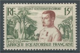 French Equatorial Africa (AEF), Adolphe Cureau, Governor Of Ubangi-Shari, 1954, MNH VF - A.E.F. (1936-1958)