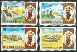 1973 Bahrein National Noliday Festa Nazionale Infrastrutture Infrastructure Développement Set MNH** Pa186 - Bahrein (1965-...)