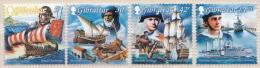 Gibraltar MNH Ships, Shipping History Set And SS - Ships
