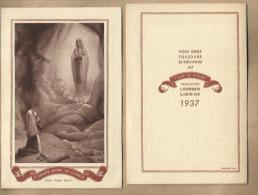 - O MARIE , REINE DU CLERGE = Kalender Van 1937 - Calendriers