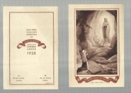 - O MARIE , REINE DU CLERGE = Kalender Van 1938 - Kalenders