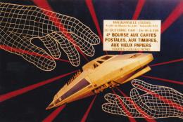 CPSM (78)  MAGNANVILLE Carte Salon 1991  T.G.V. Carte Pirate ? Tirage Limité Illustrateur LARDIE - Magnanville
