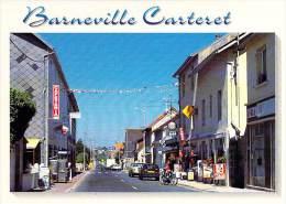 50 - BARNEVILLE CARTERET Le Centre Ville ( Rue Commerçante Commerces : EGE Bar Tabac Presse ... ) CPM GF - Manche - Barneville