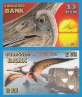 JURASSIC  BANK   13  DIN  PTERANODON   2.015  SC/UNC/PLANCHA   T-DL-11.272 - Fictifs & Spécimens