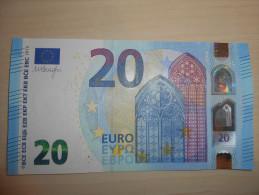 Austria Österreich Autriche 20 Euro Draghi  Serial Number: NZ!!!  UNC-  (one Slight Little Wave) - EURO