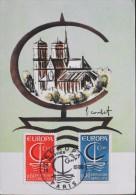 C.P. 1er Jour 1966 - Illustration Signée : F. Combet - Paris Le 24.09.1966 - TBE - - 1966