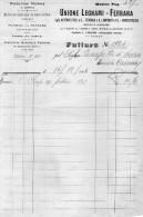 1910 FERRARA - UNIONE LEGNAMI PRODUZIONE PROPRIA - Italia