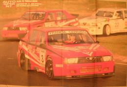 POSTER    AUTOSPRINT  -  ALFA ROMEO 75 TURBO IMSA - GIRO D' ITALIA 1988 - Manifesti