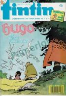 1988-43e Année N°42, BD TINTIN HEBDOMADAIRE (Hugo Le Château Des Mouettes, Chlorophylle Le Voyage Infernal, Signée ) - Tintin