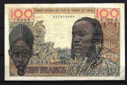 West African States - Afrique De L´ouest Côte D´Ivoire 1961-1965 Billet 100 Francs Pick 101 G VF - Côte D'Ivoire
