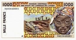 West African States - Afrique De L´ouest Côte D'Ivoire 1994 Billet 1000 Francs Pick 111 D Neuf 1er Choix UNC - Côte D'Ivoire
