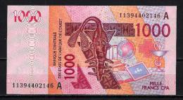 West African States - Afrique De L´ouest Côte D´Ivoire 2011 Billet 1000 Francs Pick 115 H Neuf 1er Choix UNC - Côte D'Ivoire