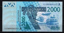 West African States - Afrique De L´ouest Côte D´Ivoire 2011 Billet 2000 Francs Pick 116 H Neuf 1er Choix UNC - Côte D'Ivoire