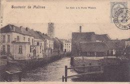 Souvenir De Malines - La Dyle à La Porte Winket (Nels, Précurseur, 1900) - Malines