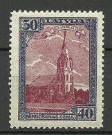 LETTLAND Latvia 1925 Libau Michel 110 A * - Latvia