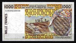 West African States - Afrique De L´ouest Mali 2003 Billet 1000 Francs Pick 411 M Neuf 1er Choix UNC - Mali