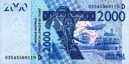 West African States - Afrique De L´ouest Mali 2003 Billet 2000 Francs Pick 416 A Neuf 1er Choix UNC - Mali