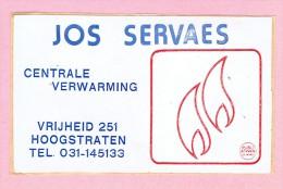 Sticker - JOS SERVAES - Centrale Verwarming - Hoogstraten - Vrijheid 251 - Autocollants