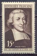 France YT N°882 Saint-Jean-Baptiste De La Salle Neuf ** - France