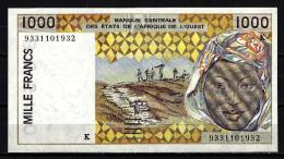 West African States - Afrique De L´ouest Sénégal 1993 Billet 1000 Francs Pick 711 C Neuf 1er Choix UNC - Sénégal