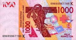 West African States - Afrique De L´ouest Sénégal 2009 Billet 1000 Francs Pick 715 G Neuf 1er Choix UNC - Sénégal