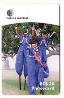 ANTIGUA & BARBUDA REF MV CARDS ANT-C6 Année 1999 MOCO JUMBIES - Antigua Et Barbuda