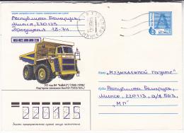 1998 BELARUS POSTAL STATIONERY COVER  Illus TRUCK 7555  , Stamps - Belarus