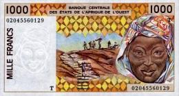 West African States - Afrique De L´ouest Togo 2002 Billet 1000 Francs Pick 811 L Neuf 1er Choix UNC - Togo