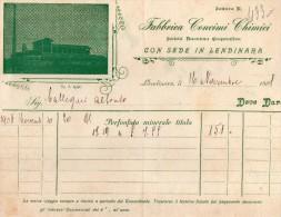 1908 LENDINARA ROVIGO - FABBRICA CONCIMI CHIMICI - Italia