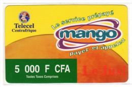 CENTRAFRIQUE RECHARGE TELECEL GSM 5 000 FCFA - Central African Republic