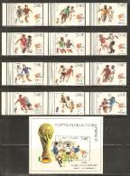Zaire 1982 Mi# 759-770, Block 43 ** MNH - World Cup Soccer Championship, Spain - Zaïre