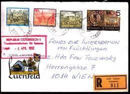 Austria 2391 Kaltenleutgeben 1992 / 1100 Years Of Lurnfeld / Registered Letter, Einschreibebrief - Otros