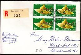 Swiss Frauenfeld 1955 / Registered Letter, Einschreibebrief, Recommande - Suisse