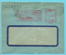 """Brief Met Roodfrankeering """" RADIO ACEC / B897"""" Met Stempel CHARLEROI - ...-1959"""