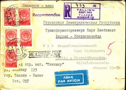 Estonia Tallinn 1958 / R Registered Letter Einschreibebrief Recommande Air Mail Par Avion - Estonia
