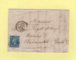 Cernay - 66 - Haut Rhin - Pc 684 - 15 Sept 1860 - Courrier De Uffholtz - 1849-1876: Classic Period
