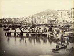 Italie Naples Napoli Le Port Marina Ancienne Photo Albumine Sommer 1880 - Photographs