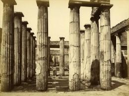 Italie Pompei Temple Casa Di Marco Epidio Sabino Ancienne Photo Albumine 1880 - Photographs