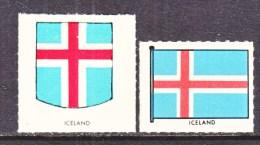 ICELAND  LABELS  *  ARMS  FLAG - Vignettes D'affranchissement (Frama)