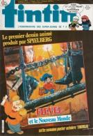 1987-42e Année N°10, BD TINTIN HEBDOMADAIRE (BD Produit Par Spielberg, Fievel Le Nouveau Monde, Hugo ..) - Tintin