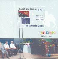 Papua New Guinea 2008 50 Yeares Of European Partenership Mini Sheet MNH - Papua New Guinea
