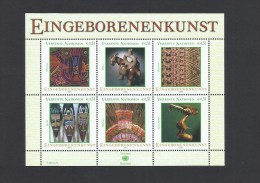 O) 2003 UNITED NATIONS - VIENNA, NATIVE ART-  ABORIGINAL ART -  CULTURE - CRAFTS, MINI SHEET MNH - Ungebraucht