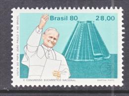 BRAZIL  1698    *  POPE  JOHN  PAUL  II - Brazil