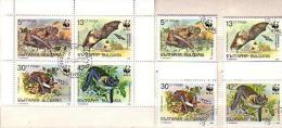 BULGARIA  / Bulgarie  1989  WWF- Bats  4v.+S/M (used) - Bats