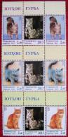 Tajikistan  2013   Cats 3v X2 + Labels  MNH - Tajikistan